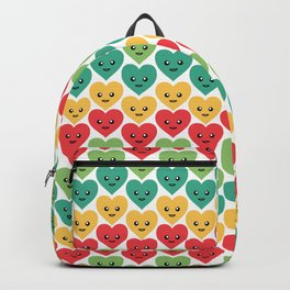 Smiley Hearts Pattern in Rainbow Colors 035#001 Backpack