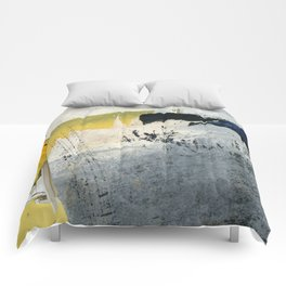 Mellow Yellow Texture Collage Comforters