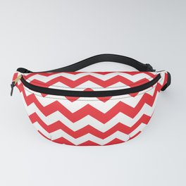 Red Chevron Fanny Pack