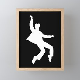 White Elvis Framed Mini Art Print