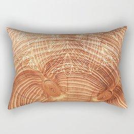 Mandala Wood I Rectangular Pillow