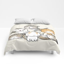 Cute Kitty Doodle Comforters