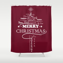 The Wishing Christmas Tree Shower Curtain