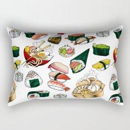 Sushi White Rectangular Pillow