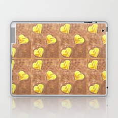 Yellow and brown hearts pattern Laptop & iPad Skin
