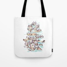 Wild family series - Otters Tote Bag