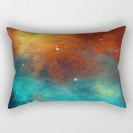 Red And Blue Interstellar Dust - Galaxy Space Rectangular Pillow