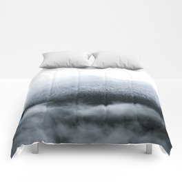 Low Hanging Fog in the Canadian Rockies Comforters