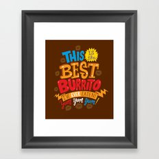 Best Burrito Framed Art Print