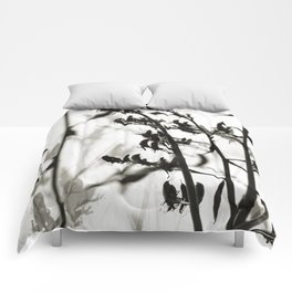New Zealand Flax silhouettes Comforters