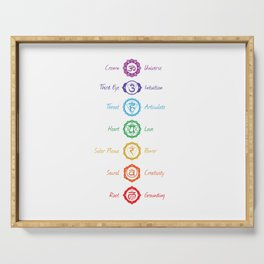 7 Chakra Symbols #02 Serving Tray