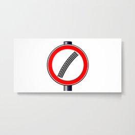 Ytre Mark Traffic Sign Metal Print