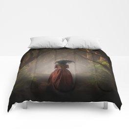 Satin red dress Comforters