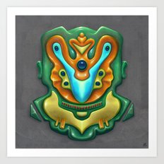 Summer Totem Green Art Print