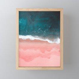 Turquoise Sea Pastel Beach III Framed Mini Art Print