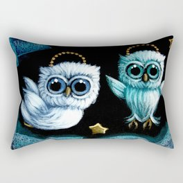 TINY ANGELS OWLS FLYING IN HEAVEN Rectangular Pillow