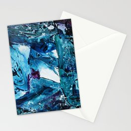 Faces in blue Stationery Cards
