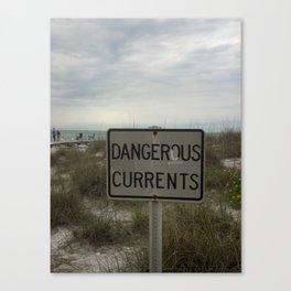 Dangerous Currents Canvas Print