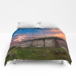 Poulnabrone Dolmen Sunset Comforters