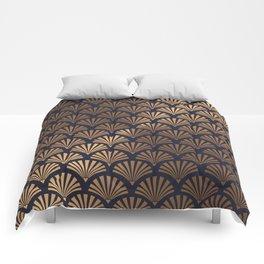 Art Deco Shell Pattern Comforters
