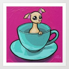 Chihuahua in a Teacup Art Print