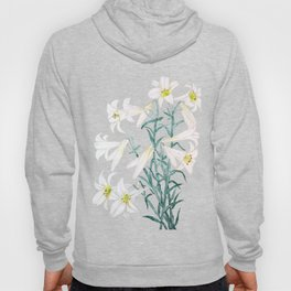 white lily branch watercolor Hoody