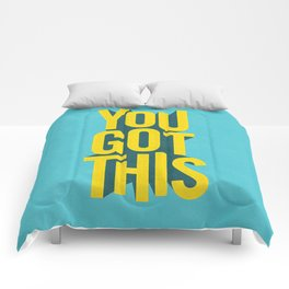You Got This motivational typography poster inspirational quote bedroom wall home decor Comforters