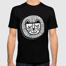 HAPPY LION Black MEDIUM Mens Fitted Tee
