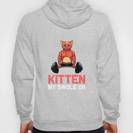 Funny My Kitten Swole On Gymnastic Workout Squat print Hoody