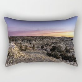 Colorful Sunrise Sky in Theodore Roosevelt National Park Rectangular Pillow