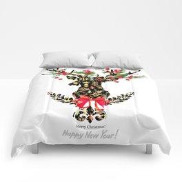 watercolor fashion Reindeer Comforters