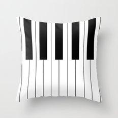 Piano Keys Throw Pillow