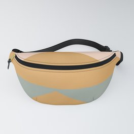 Triangles in Blush, Gray, and Honey Fanny Pack