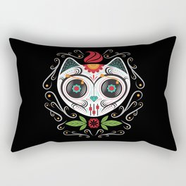 Sugarskull Cat Rectangular Pillow