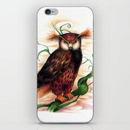 Sunset owl iPhone Skin