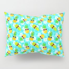 Funny Summer Tropical Pineapples Pillow Sham