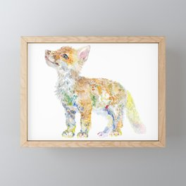 Fox Cub Framed Mini Art Print