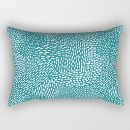 Abstract Brush Strokes, teal Rectangular Pillow