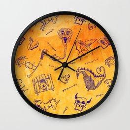 Magic symbols Wall Clock