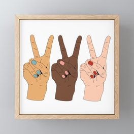 Peace Hands 3 Framed Mini Art Print