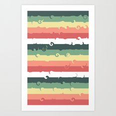 Candy Roll Art Print
