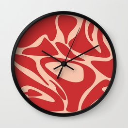 texture of meat Wall Clock