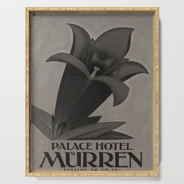 Werbeposter Palace Hotel Muerren voyage poster Serving Tray