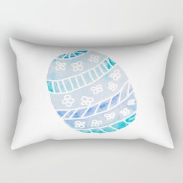 Easter Egg in Blue and Teal Rectangular Pillow
