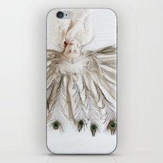 Peacock girl iPhone & iPod Skin