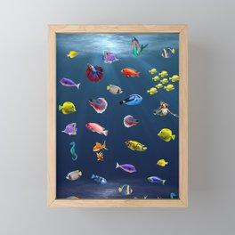 Under Water Life Framed Mini Art Print
