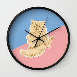 Persian Cat Meow Wall Clock
