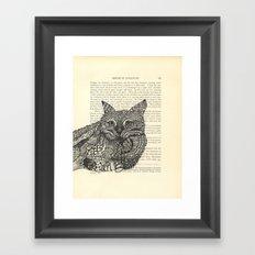 Meow Lounging Framed Art Print