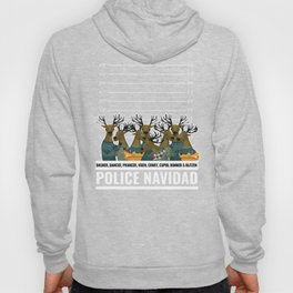 Funny Police Christmas Shirt Ugly Sweater Gift for Cops and Law Enforcement Officers on the Thin Hoody