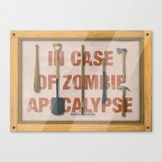 In Case of Zombie Apocalyspe Canvas Print